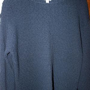 Blue/black cotton sweater